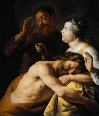 Rembrandt-Harmenszoon-van-Rijn-Samson-And-Delilah-2-Oil-Painting
